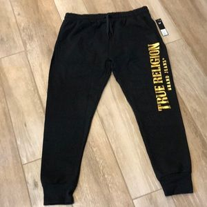 True Religion Joggers Charcoal/Gold Size XL